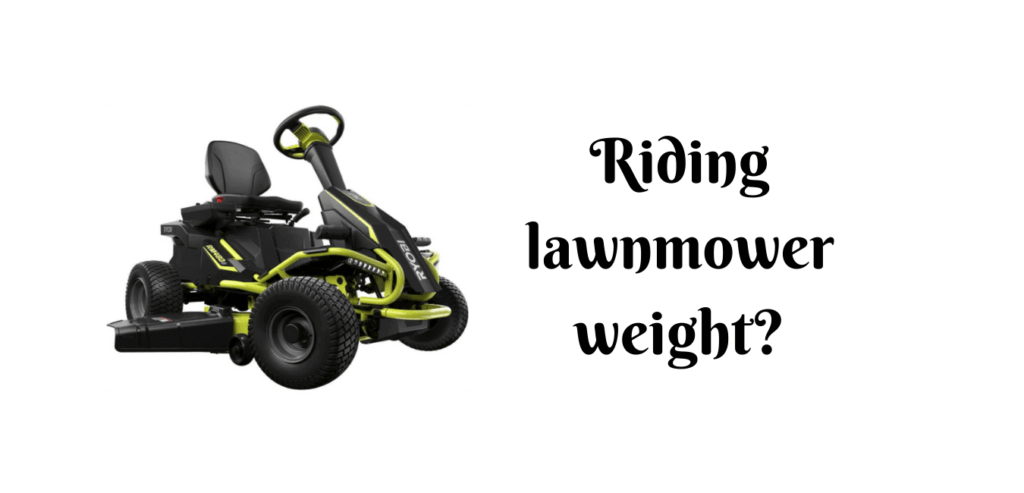how much does a riding lawn mower weight